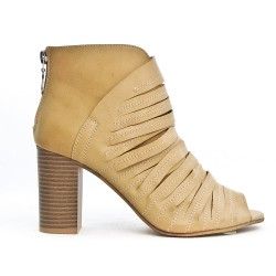 Beige beige ankle boot