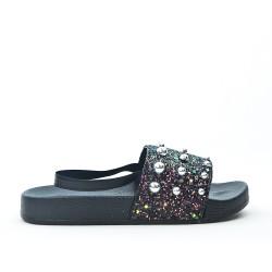 Sandale fille noire à perle