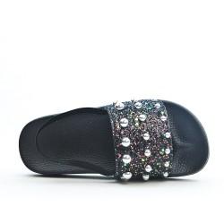 Black pearl girl sandal