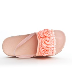 Sandal pink girl with flower