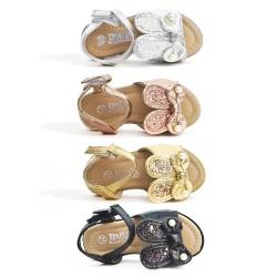 Sandalia para niños con estampado de conejos