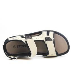 Sandale enfant blanche à scratch