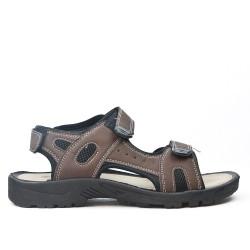 Sandale enfant marron à scratch