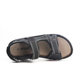Sandalia infantil negra con rasguño