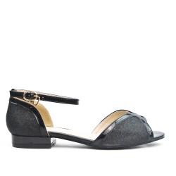 Black sequined sandal