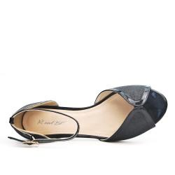 Sandale pailletée noire