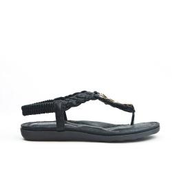 Sandale noire à bride tressée