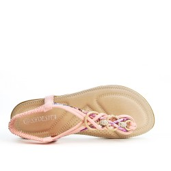 Sandale rose à bijoux