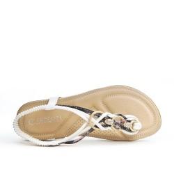 Sandale blanche à bijoux