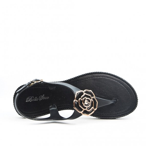 Sandale tong orné de fleur
