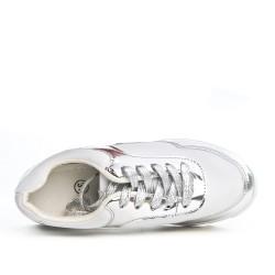 Zapatillas con cordones bimateriales grises