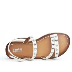 Sandale confort blanche ornée de cous
