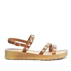 Sandale confort argent ornée de cous