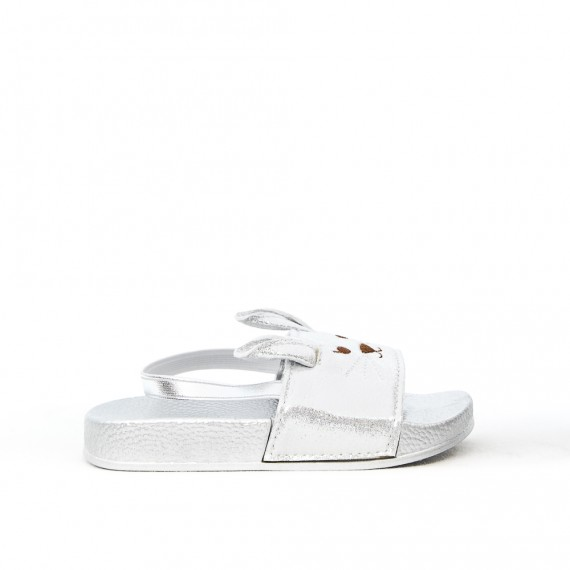 Gray girl sandal with rabbit pattern