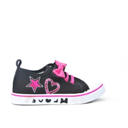 Girls' tennis canvas with bow