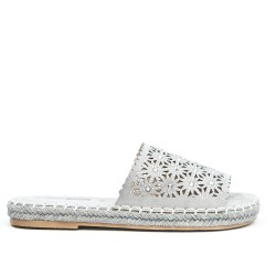 Gray slat with espadrille sole