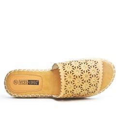 Yellow slat with espadrille sole