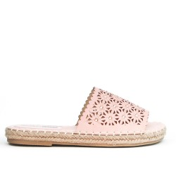 Pink sneaker with espadrille sole