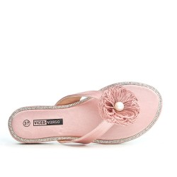 Pink flower tong
