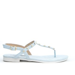 Blue Tong sandal with studs
