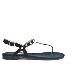 Sandale Tong noir ornée de clous