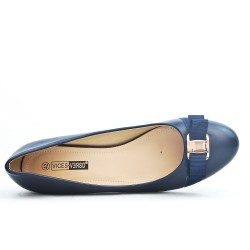 Blue pump with bow in large size