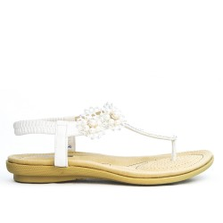 Sandale blanche en grande taille