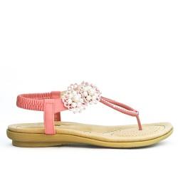 Sandalia rosa en talla grande