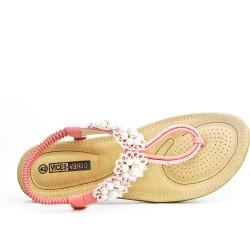 Sandale rose en grande taille