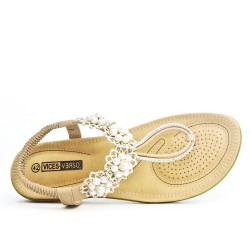 Beige sandal in large size