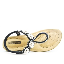 Black sandal in large size