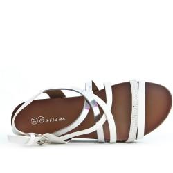 Sandale confort blanche à multibrides