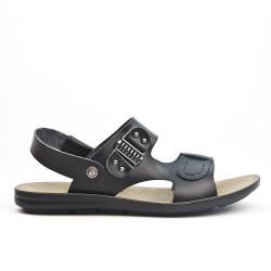 Black man sandal in faux leather