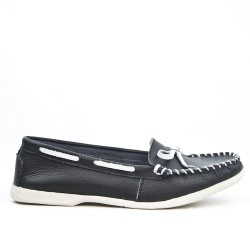 Loafer leather moccasin