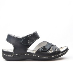 Comfort sandal with velcro closure