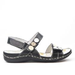 Sandale confort en cuir