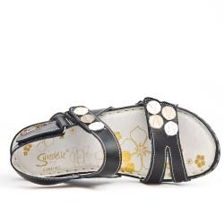 Disponible en 6 colores Sandalia de confort de cuero