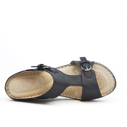Available in 5 colors Leather wedge