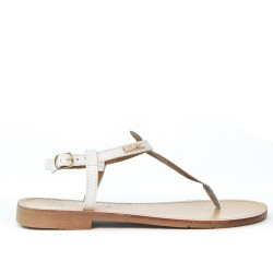 Nude foot in faux leather
