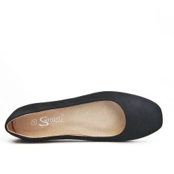 Available in 5 colors Ballerina faux suede