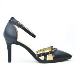 Sandale en simili cuir à talon