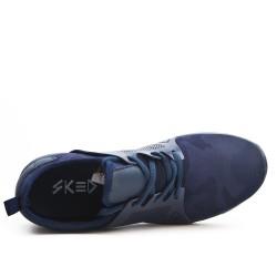 Basket bleu imprimée à lacet