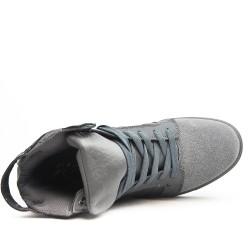 Basket montée grise à lacet