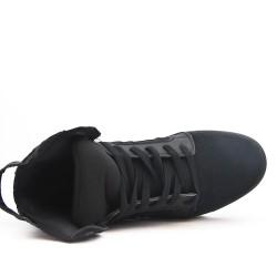 Basket montée noire à lacet