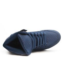 Basket montée bleu à lacet