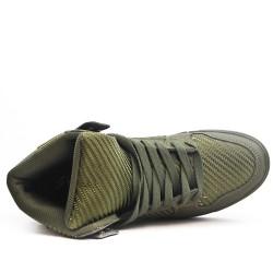 Basket montée verte à lacet