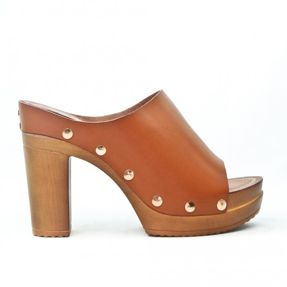 e88801aa6cad2 Camel platform sandal in faux leather