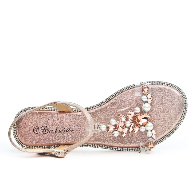 Sandal Flat Pink With Transparent Detail D29IWEH