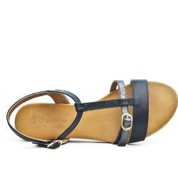 Black buckled strap sandal