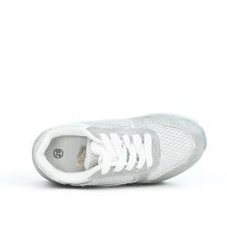 Basket fille grise à lacet